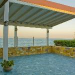 Il terrazzo del ristorante Villa Marina.