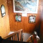 Le couloir décoré
