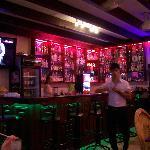 well stocked Sunset bar