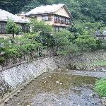 游月山荘へ行く橋からの景色