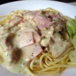 chicken/ham pasta with cream sauce