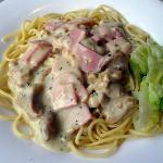 chicken/ham pasta with cream sauce (2)