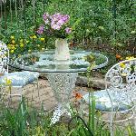 Table for two near garden