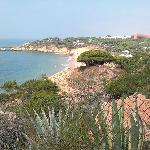 View of Santa Eulalia beach from apt. village