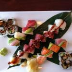 Three roll Sushi Special, enough for two people