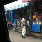 Merkato - road and shops