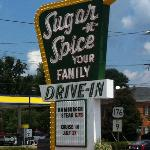 Great sign for the Sugar n Spice Drive-in