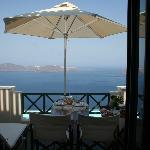 Breakfast on our balcony - AMAZING!!