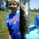 Fish caught in the pond