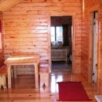 Inside of one of our Deluxe Cabins