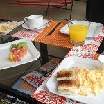 Desayuno exquisito
