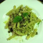 Fish and eggplant pasta - light and flavorful