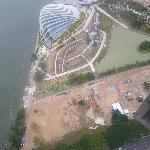 The Flower Dome (Gardens by the Bay) works from above