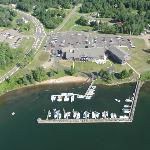 Arial photo of the grounds and marina