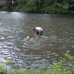 Swimming in the river is fun for all