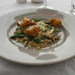 Crumbled Sweetbreads and Mushroom Risotto
