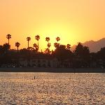 Beautiful Santa Barbara at sunset (view from the pier)