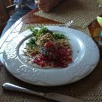 A beautiful chile en nogada