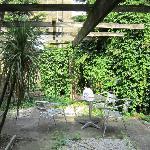 Cour accessible de la chambre