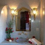 Salle de bains de la chambre babouches