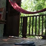 Hammock outside a treehouse