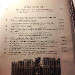 Carta del restaurante 2