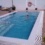 The hotel pool on the roof - a great place to relax and enjoy a dip