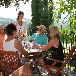 Guests enjoying our Bistro and deck.