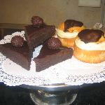 chocolate fudge torte and boston cream pie