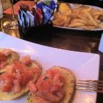Bruschetta (x nulla croccante ma gustosa) e fish and chips