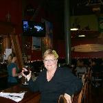 Enjoying my dinner at the Bar