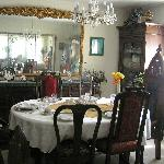 Crystal, china, gilded mirrors, sun-filled windows, lace curtains, wonderful breakfast!