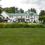 Rear view of Greenwood Manor Inn and gorgeous grounds.
