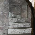 The narrow stairs to the girls dorm