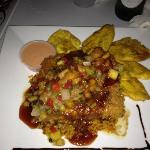 Paraiso Tropical with arroz jibaro and tostones