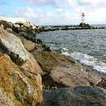 Oak Bluffs beach north of the ferry docks.
