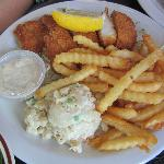 Calamari steak plate with fries and PotatoMac