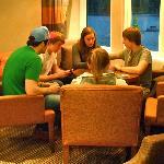 Our children enjoying a card game!