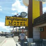 the owner out front of his motel nice guy Allan