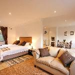 A bedroom in one of our single cottages (Cottages 1, 2 and 3)