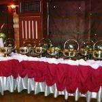 Sunday brunch buffet setup