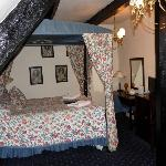 Our four-poster bed
