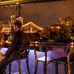 Rooftop bar with Story Bridge Views