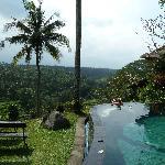 petite piscine vue sur les rizières