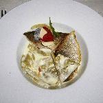 Menu Plaisir: main course (fish)