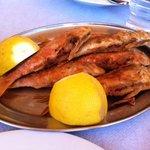 Barbounia fish at Christina's Taverna