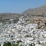view of lindos from acropolis
