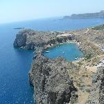 view from acropolis in lindos