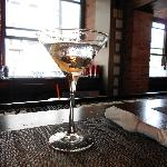 my vodka martini.....yum.