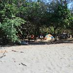Front Tent area from the beach